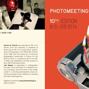 3-Day Workshop on Collodion Process with Sandra Petrillo and Joel Nepper at Photomeetings, Luxembourg