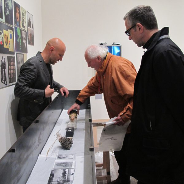 Setting up of Paolo Gioli's Exhibition at the Italian Pavilion of the 56th International Art Exhibition in Venice, 2015