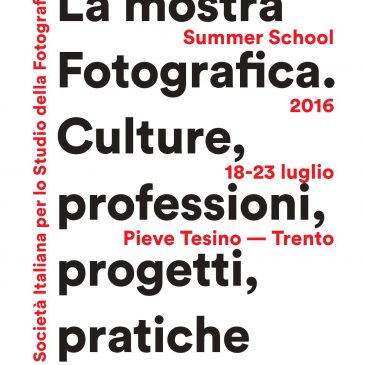 22nd of July, lecture by SMP at the Summer School of the Italian Society for the Study of Photograhy
