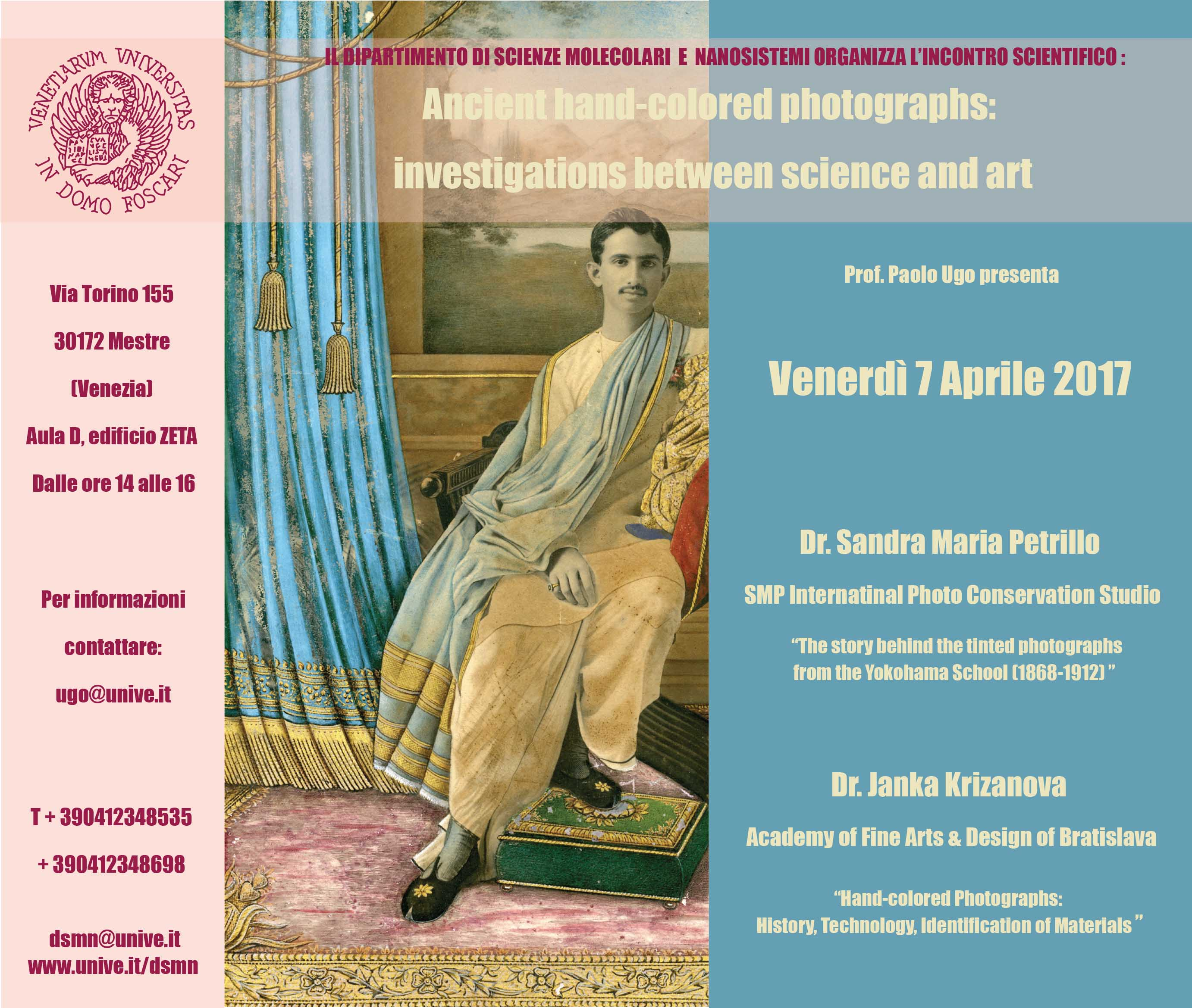 7th of April, 2017 Lecture by Janka Krizanova and Sandra M Petrillo Ca'Foscari University
